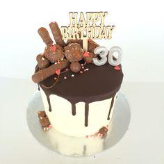 Dark choc drip cake
