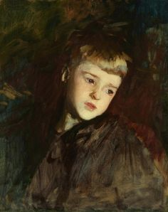 John Singer Sargent (American, 1856-1925) Gordon Fairchild (1887) oil on canvas 21 ¼ x 17 ¼ in