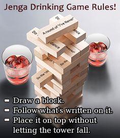 Jenga drinking game rules