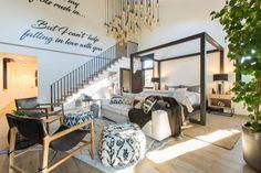 Christina & Ant Anstead's New Home | Christina on the Coast | HGTV Master Bedroom, Bedroom Decor, Bedroom Ideas, Bedroom Designs, Bedroom Inspiration, Upstairs Loft, Modern Farmhouse Style, Modern Rustic, Loft Spaces
