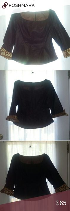 Handmade African top made in Kenya med Gorgeous top I had made in Kenya size med Tops