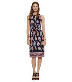 Tory Burch Silk Interlock Sleeveless Dress