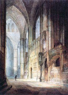 JMW Turner, Interior Westminster Abbey. 1796.