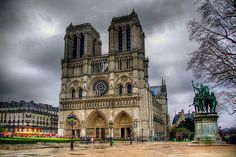 Notre Dame in Paris is the quintessential example of Gothic Architecture. Construction of the church started in 1163, when Bishop Maurice de Sully decided to build a cathedral befitting his status as the bishop of Paris. Notre Dame was completed some 200 years later – one of the first European cathedrals to be built on a truly monumental scale.