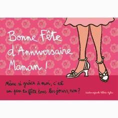 """Carte """"Bonne Fête d'Anniversaire Maman !"""""""