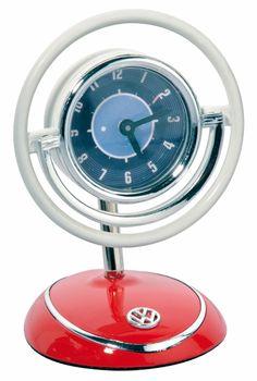 Campervan Gift - Official VW Desktop Volant Clock, £19.95 (http://www.campervangift.co.uk/official-vw-desktop-volant-clock/)