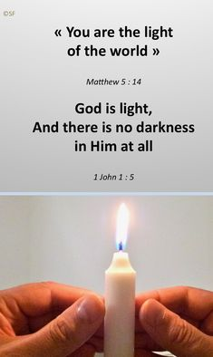 Creation Bougie, John 1 5, Jean 1, Light Of The World, Candles, God, Dios, Candy, Allah