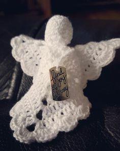 Heklede engler, crochet angel, julepynt