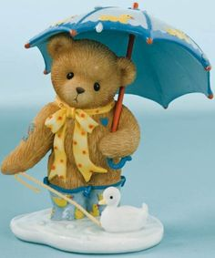 Cherished Teddies: Rain Has Come Time For Puddle Fun