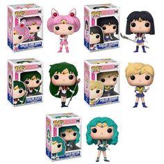 Set of 5 Sailor Moon Wave 2 Funko Pop! Sailor Chibi Moon, Sailor Uranus, Sailor Neptune, Funko Pop Display, My Little Pony Dolls, Funko Pop Anime, Funko Pop Dolls, Funk Pop, Sailor Princess