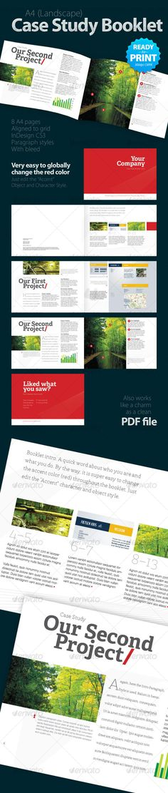 Case Study Booklet (8 pages) - Informational Brochures - Print Layout Inspiration #graphicriver.net