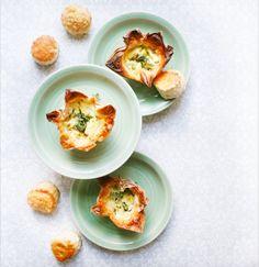 Terter med ricotta, blåmuggost og timian