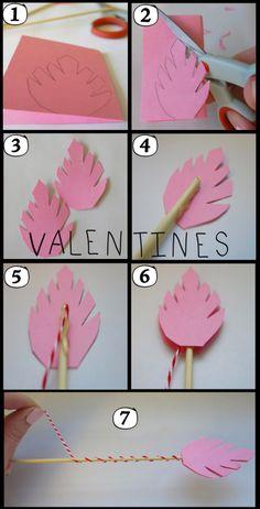 DIY Valentines #craft #DIY #arrows.