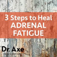 3 Steps to Heal Adrenal Fatigue - Great tips! Check out the recovery time. We didn't get in out current state of health overnight. There's not a quick fix either. Consistency and persistence!