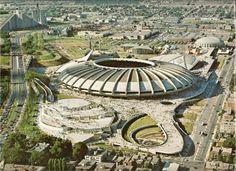 Le Parc Olympique durant les Jeux de 1976