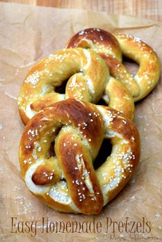 Homemade Soft Pretzels are easy to make with this recipe and great to make with your kids!
