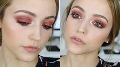 Red Glittery Eyes | Makeup Tutorial - YouTube #rebeleyes
