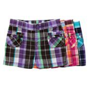 Jumping beans plaid patch pocket shorts