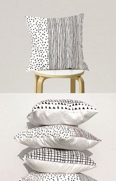 Black Dot Stripe Pillow cover, Black and White Pillow Case Decorative Pillow Geometric Pillow Kids by gridastudio on Etsy Kids Pillows, Throw Pillows, White Pillow Cases, Silver Pillows, Turquoise Pillows, Black And White Pillows, Pillow Fabric, Cotton Fabric, Crochet Pillow