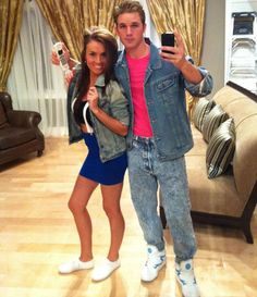 Saved By The Bell Halloween costume. Kelly Kapowski and Zack Morris. #HelloGorgeous