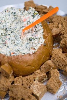 Trempette aux épinards pour pain volcan (pumpernickel)
