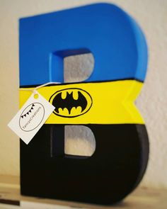 Batman inspired paper mache letter with attached CAPE