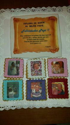 Galletas para el Día del Padre, con fotos de su preciosa niña!!