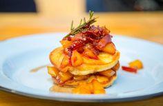 Pancakes with nectarine jam - Sarah Graham: food safari
