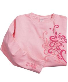 Shayla Wrap - Rose-Dyed Long-Sleeve Mini T-Shirt