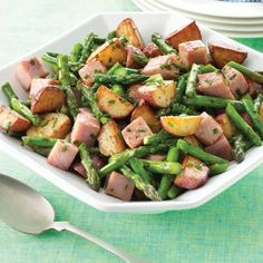 New Potatoes & Ham in Browned Butter I'm going to make this with the leftover ham from Easter.
