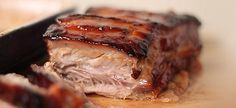 Chocolate and Chilli are natural partners in South American cooking. Here they make a sweet and savoury glaze for baked pork belly. Greek Recipes, Meat Recipes, Cooking Recipes, Food Network Recipes, Food Processor Recipes, Greek Cooking, Baked Pork, Pork Belly, Healthy Cooking