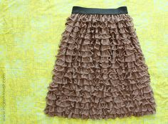 Ruffly Skirt……from pre-ruffled fabric | Make It and Love It