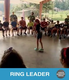 Ring Leader is one of the best games ever. Put someone in the middle and they have to guess who is starting the action (the ring leader). To start the game, send someone out of the room while you select who is going to be the ring leader. Then have them start and action, and …