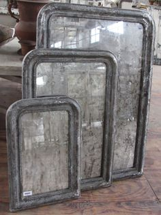 ghosty old mirrors with the silver deteriorating