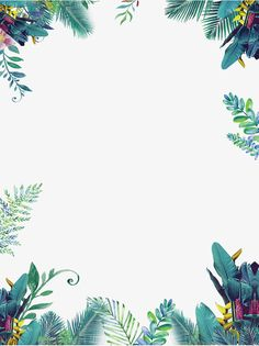 Green summer small fresh border, Summer Border, Summer, Taobao Poster Border PNG and PSD Flower Backgrounds, Flower Wallpaper, Wallpaper Backgrounds, Page Borders Design, Border Design, Leaf Border, Floral Border, Plant Painting, Borders And Frames