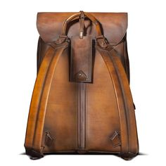 Italian Handmade Leather Backpack Sombrero  / SCARPE DI BIANCO