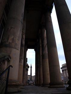 View to Wellington's Column from the former entrance to Liverpool Museum (now World Museum Liverpool) Liverpool Museum, Liverpool England, Photo Credit, Entrance, Past, World, Entryway, Past Tense, Doorway