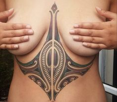 """""""6 months healed Maori sternum piece, If you would like something similar send me your request ideas to my Facebook artist page Coen Mitchell Tattoo Gold…"""""""
