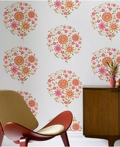 Can someone inform me what planet I have been on that I missed the news that Amy Butler made wallpaper? I employed lots of Amy Butler fabrics in the quite Interior Wallpaper, Wallpaper Decor, Retro Wallpaper, Modern Wallpaper, Designer Wallpaper, Wallpaper Furniture, Wallpaper Patterns, Sunset Wallpaper, Hanging Wallpaper