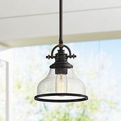 Kitchen Pendant Lighting, Pendant Lighting, Over Sink Lighting, Glass Pendant Light, Lamps Plus, Sink Lights, Kitchen Sink Lighting, Farmhouse Pendant Lighting, Sink Pendant Lights