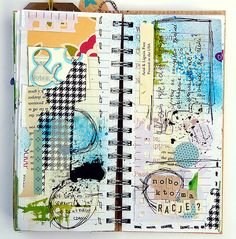 right by Mumkaa... art journaling page www.flickr.com/...