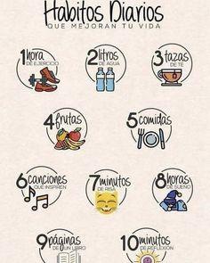 :) - Para empezar cada día mejorando el estilo de vida…:] Imágenes efectivas que le proporcionamos so - Good Habits, Healthy Habits, Healthy Tips, Life Motivation, Study Tips, Better Life, Self Improvement, Body Care, Just In Case