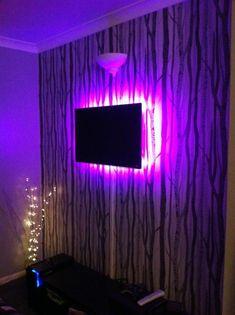 Tv Set Up, Cool Lighting, Neon Signs