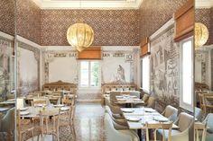 ancient Lebanese Lira in the Money room - Liza Restaurant Beirut