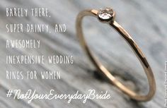 20 ideas for minimalist, inexpensive wedding rings for women