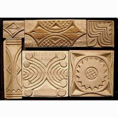 Oshiwa Carved Wood Printing Stamp Set