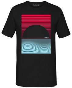 A contemporary, artistic look makes this graphic print T-shirt from Hurley essential to your casual wardrobe. | Cotton | Machine washable | Imported | Crew neck | Short sleeves | Graphic at front | We