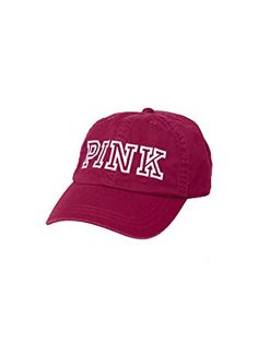 7acf618098570 Victoria s Secret PINK Women s Baseball Hat Raspberry Wine Review