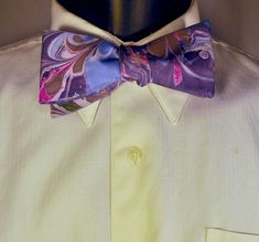 Man's Bow Tie for All Occasions Made in Asheville by marblemajik