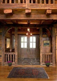 Love the rustic style